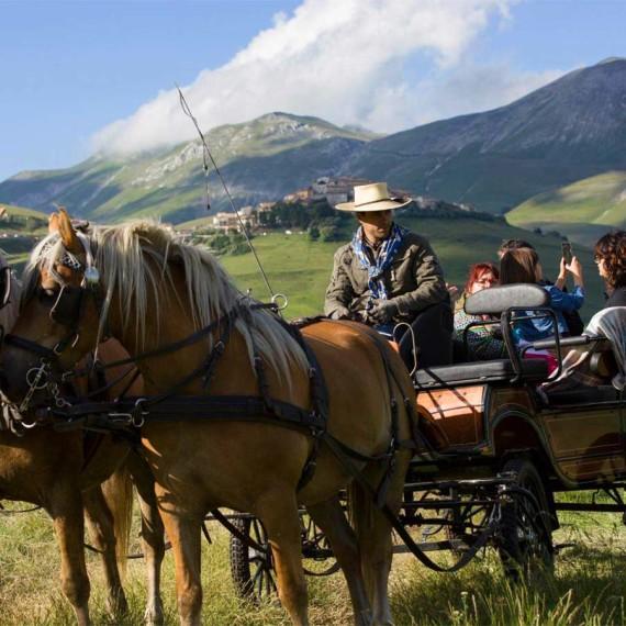 Horse riding in Castelluccio